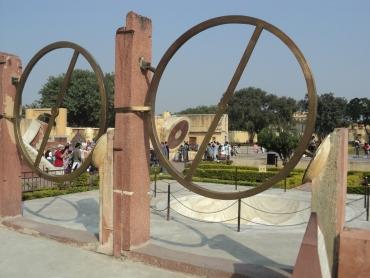 Life-size timekeepers at Jantar Mantar