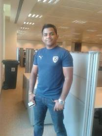 Praveen in his Deccan Chargers jersey