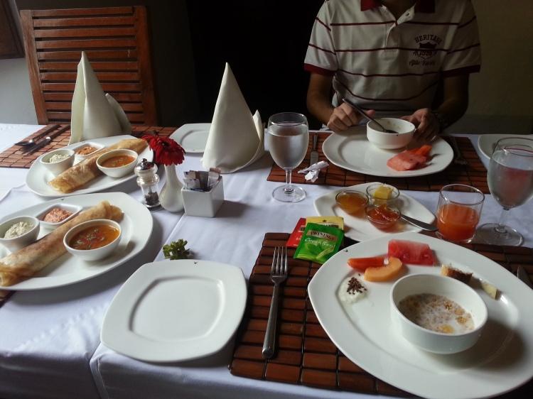 The Tamil-English breakfast