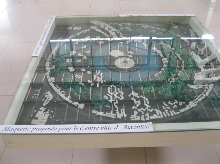 Miniature model of the Auroville City Centre