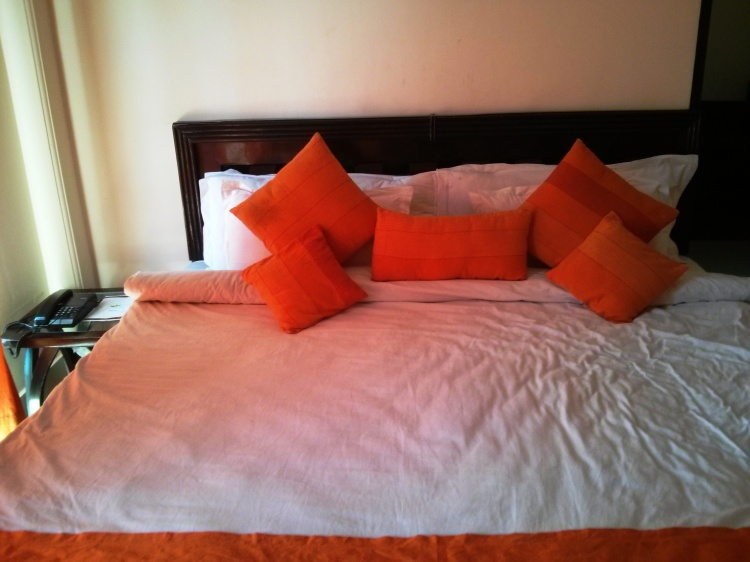 "Have you ever had a case of ""more cushions than my fingers can count""?"
