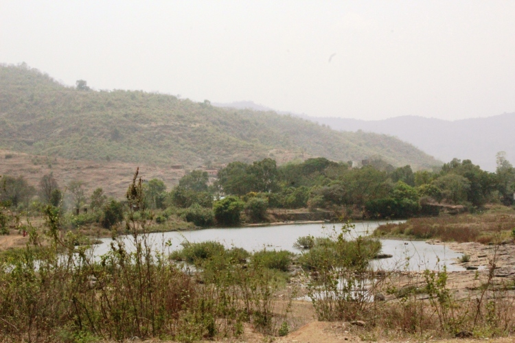 View from the valley of the Sahyadris