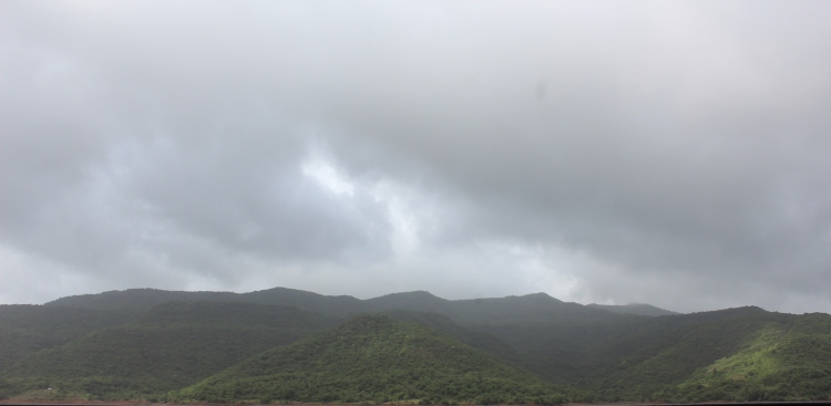 Just before the thunder split the sky