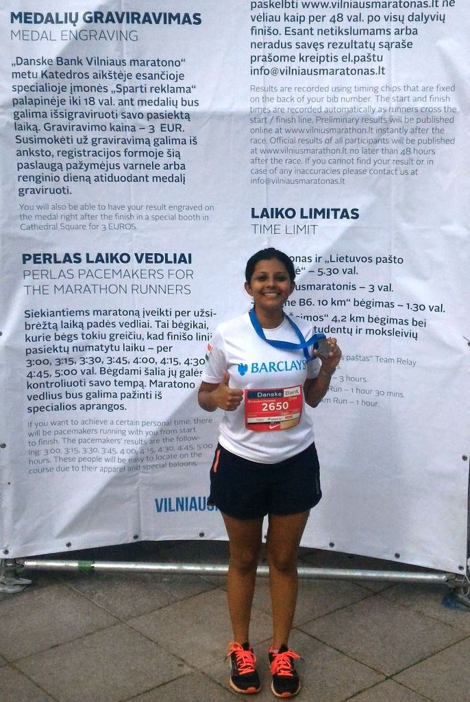And...this is how I became the first Indian to run the Vilnius Half Marathon