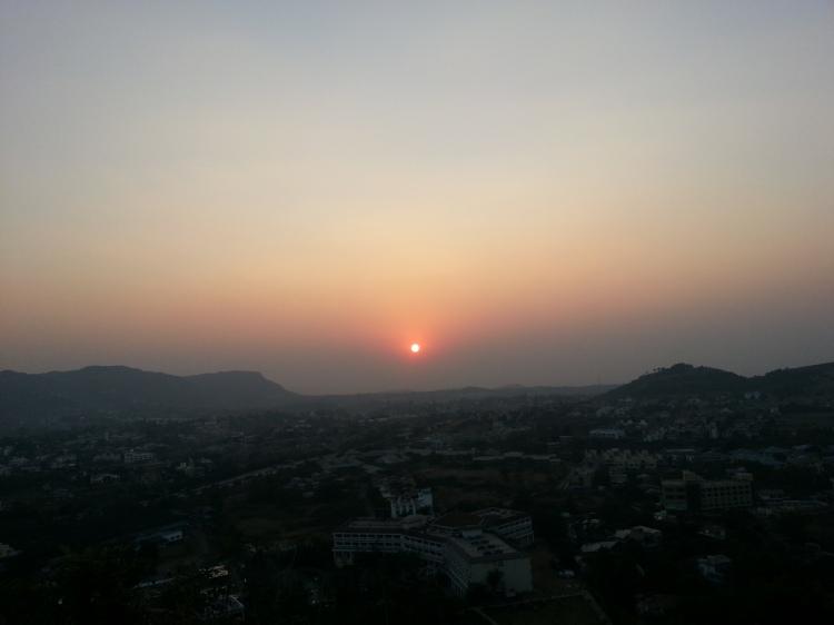 The sun sets over Tungarli