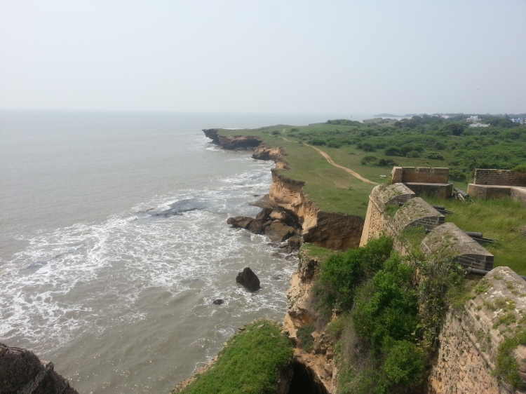 The Arabian Sea looks mesmerizing from Diu Fort
