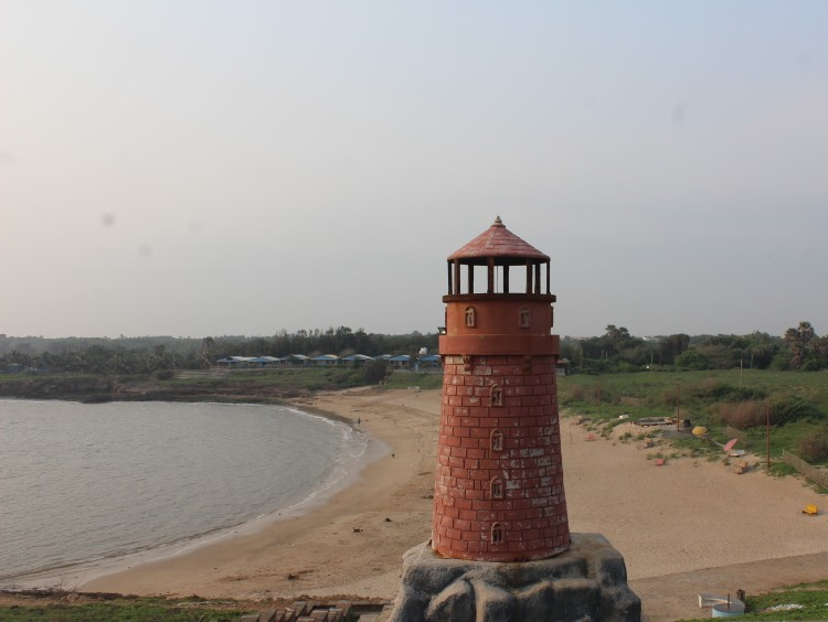 Chakratirth Beach... guarded by a lighthouse?