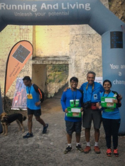 At the finish line with Rahul Verghese - the organiser
