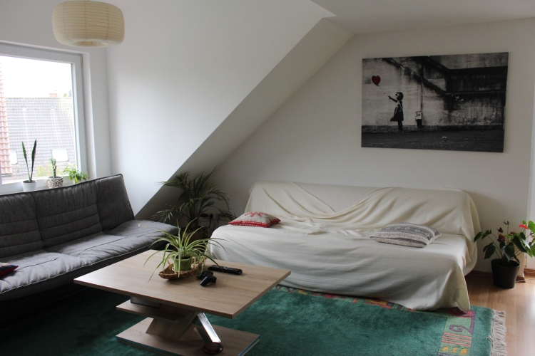 When you've lived in strangers' homes for so long, you desire to have your own (a friend's couch in Lindau)